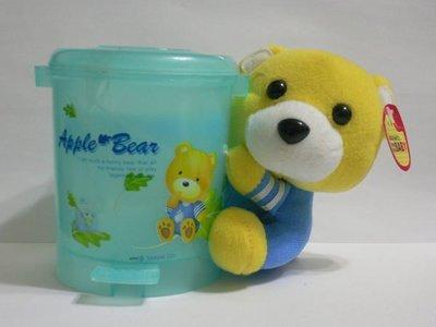 【可愛熊寶寶 多用途 手機座/桌上小物收納筒/置物筒/絨毛娃娃】< 直 100元 >