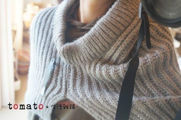 ˙TOMATO生活雜鋪˙韓國進口韓國製冬季保暖基本款毛質編織套頭多用途披肩圍巾