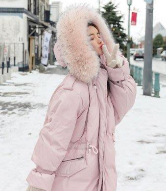 韓國東大門 大毛領超保暖棉外套 兩色 棉外套 保暖外套 韓國外套 長版外套