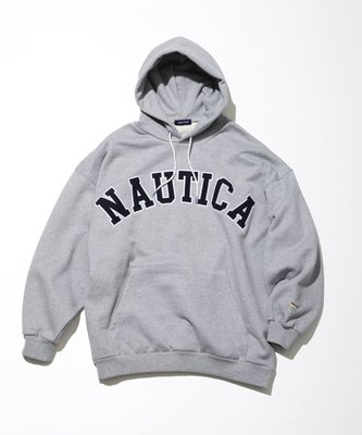 TSU 日本代購 NAUTICA SWEAT LETTERED  PARKA 帽T 新款 厚棉 字體 長谷川昭雄