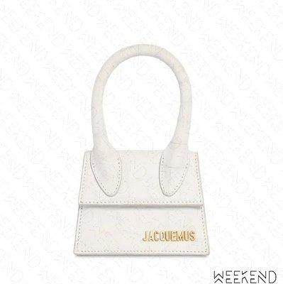 【WEEKEND】 JACQUEMUS Le Chiquito Croc 小款 鱷魚紋 手提包 肩背包 白色