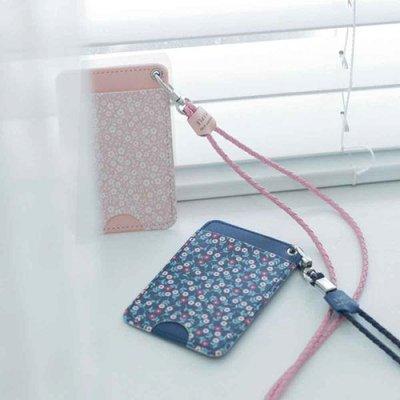 ♀高麗妹♀韓國 PLEPLE cardcase 芳華正盛 悠遊卡/各式卡片3入 萬用皮革卡夾&活動式頸繩(5色選)預購