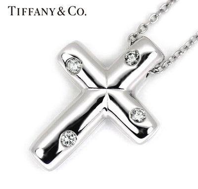 Tiffany PT950 Cross etolie 白金 十字架鑽石項鏈