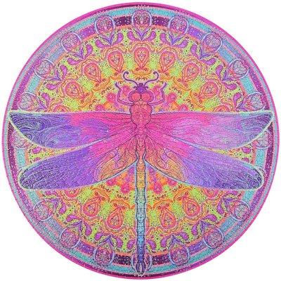 Bgraamiens Puzzle-Zentangle Dragonfly-1000 片生動蜻蜓圓形曼陀羅拼 1000片