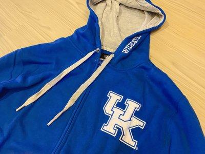 JFK NCAA肯塔基大學 University of Kentucky 連帽長袖外套 藍色/校徽LOGO配色