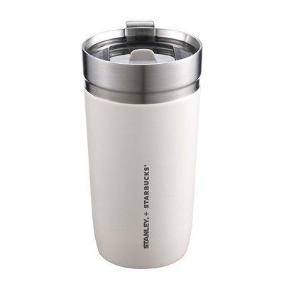 將將星正貨 嚴選㊣星巴克 STANLEY16OZ Creamy不鏽鋼杯473ml保溫杯 滑蓋飲口奶油白Starbucks