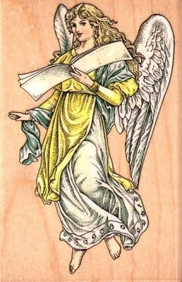 陽光一品DIY卡片印章專賣店~~RS木頭印章-- 大天使~#A1061F#美國製絕版品
