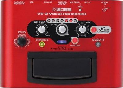 ☆ 唐尼樂器︵☆ BOSS VE-2 Vocal Echo 人聲 和聲 主唱 效果器 VE-2