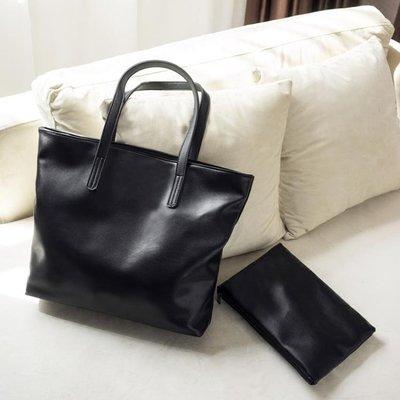 包包女百搭學生單肩手提包大容量軟皮托特包