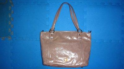 ~保證真品 Anna Sui 粉紅色漆皮款肩背包 水餃包 手提包~便宜起標無底價標多少賣多少 0