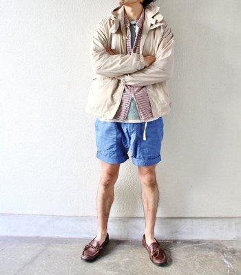 Engineered Garments Fatigue Short Blue