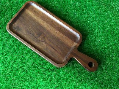 竹藝坊-深色木盤/拍攝道具/手把式麵包盤/甜點盤/托盤