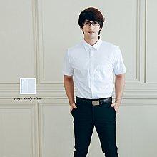 畢業專題/面試報告表演/簡約素面 男白色短袖襯衫《SEZOO襯衫殿 高雄店面》045108818