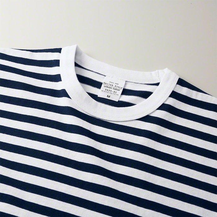 WaShiDa【UA5625-01】United Athle × T- Shirt 5.6中磅 細條紋tee