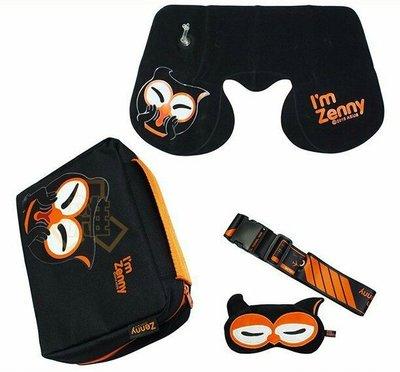 全新 ASUS 華碩 Zenny 暗光俠 多功能旅行組—頸枕 束帶 眼罩 收納包 可面交 可合併運費