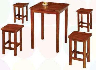 【南洋風休閒傢俱】典雅餐桌椅系列 –2x2田園油木餐桌椅  原木質餐桌組 復古餐桌椅(TU179 TU131)