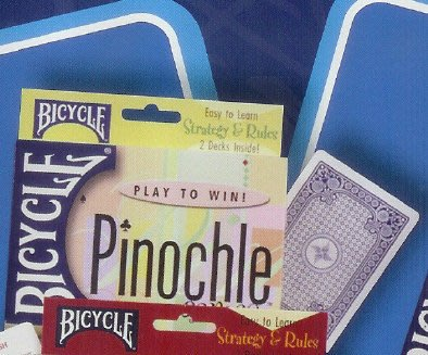 607 BICYCLE PINOCHLE遊戲撲克牌組含書