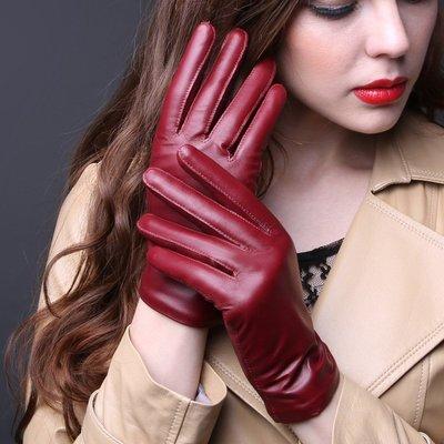 『老兵牛仔』ND-008保暖加絨綿羊皮加厚手套/女手套/時尚/羊皮手套/個性