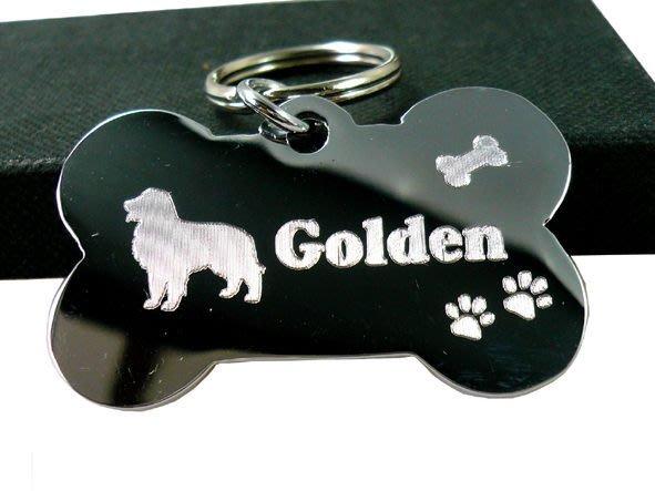 【銘記心禮】GO-1021大骨頭寵物名牌、吊牌狗牌(免費雙面刻字)適大型犬--狗狗的護身符