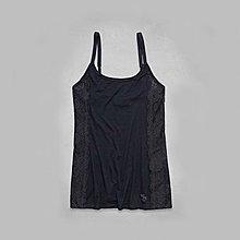 Maple麋鹿小舖 Abercrombie&Fitch * AF 深藍色蕾絲細肩帶上衣 * ( 現貨XS號 )