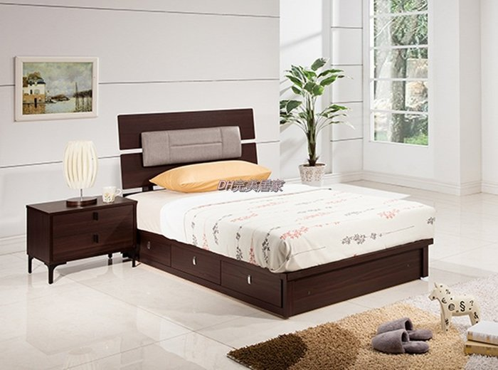 【DH】商品貨號VC236-7A商品名稱艾莉3.5尺單人床檯(圖一)含参抽床底。床頭櫃另計。備5尺/6尺另計主要地區免運