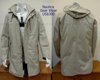 (寶金坊) NAUTICA Gear Wear 連帽 防風防水外套風衣夾克windstopper 卡其色 US40 M號