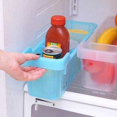 長方形可拆卸分類冰箱收納盒抽屜整理盒小物置物盒(大號 40x12x13cm)