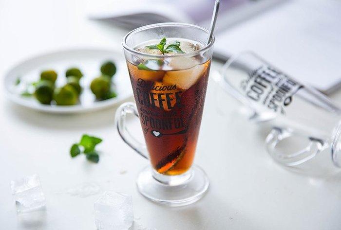 歐式復古玻璃拿鐵杯  玻璃杯  果汁杯  杯子  水杯  拿鐵杯  冰咖啡杯  復古玻璃杯 啤酒杯【小雜貨】