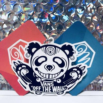 悠遊伴旅 - 黑白系列 - Vans Off The Wall 邪惡熊 造型悠遊卡 一卡通 iCash 生日 情人 客製