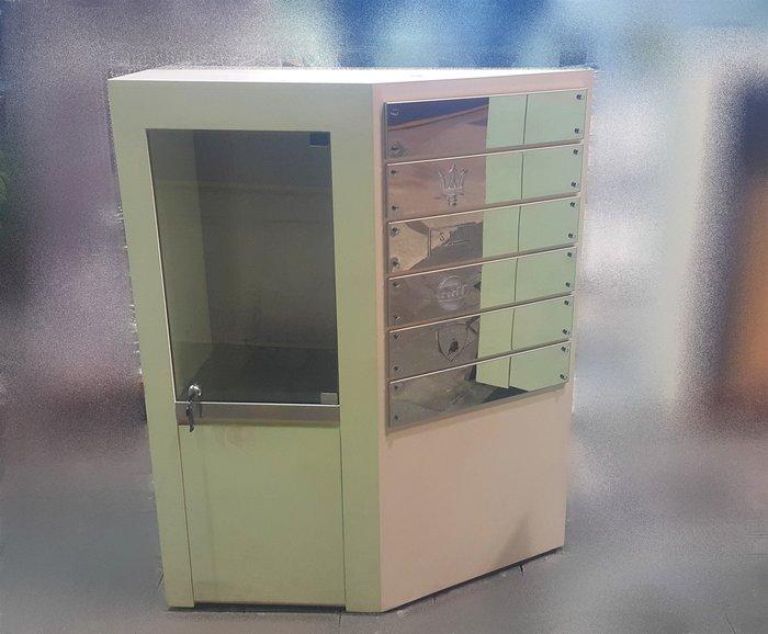 樂居二手家具 D0129CJJH 白色玻璃門展示櫃 收納櫃 展示櫃 置物櫃 書架 仿古家具 全新中古傢俱家電 台北桃園