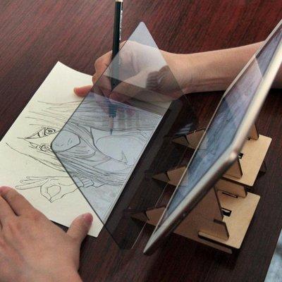 手寫板 畫畫神器投影臨摹板透光學繪畫拷貝板美術生動漫描圖光影拷貝台jy 閤家歡百貨