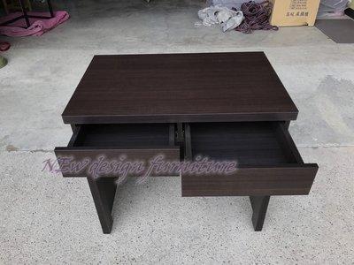 【N D Furniture】台南在地家具-經濟型簡易木心板雙抽書桌/工作桌/出租套房桌NS