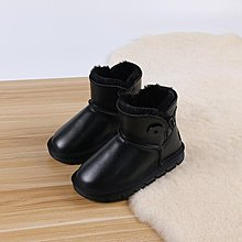 真皮童鞋 兒童雪靴 韓版兒童雪地靴 女童男童加絨靴子 加厚防滑 寶寶棉鞋 毛毛靴21227