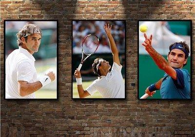現代裝飾畫網球明星羅傑費德勒F新款ederer健身新會所框畫(多款可選)jk01