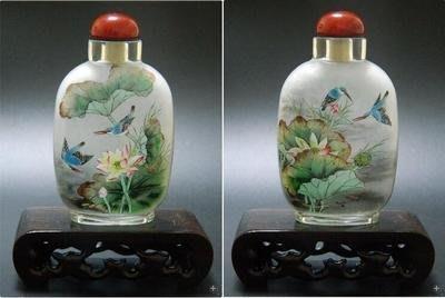 荷趣圖中國特色手工藝品送長輩中國風外事小禮品內畫鼻煙壺 壺說221