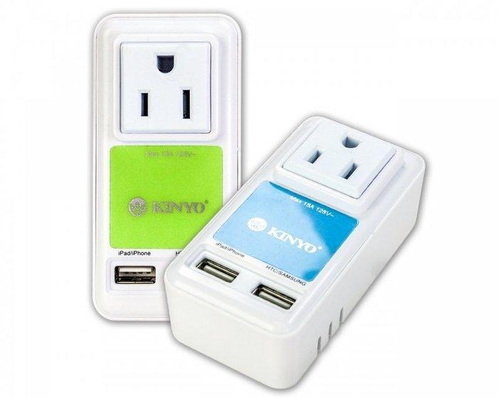 精彩多芬D&J-UR-05【KINYO】耐嘉~ 2USB+3P急速充電插座(UR-05)雙USB插孔,手機、平板充電