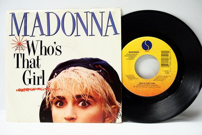 45 rpm 7吋單曲 Madonna【Who's the Girl 】美國 Sire 首版