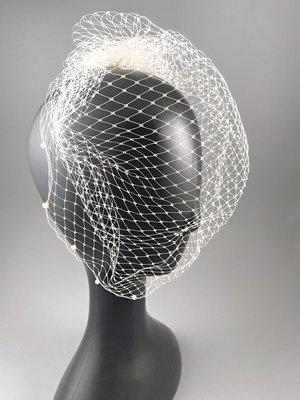 [我是寶琪] 侯佩岑二手商品 全新未用 Veil Bridal Couture 珍珠網狀頭紗
