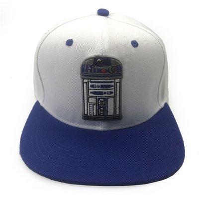 星際大戰平沿帽 Star Wars 棒球帽子 R2D2 帝國風暴兵 黑武士 潮刺繡韓國街舞嘻哈帽戶外遮陽帽 桃園市