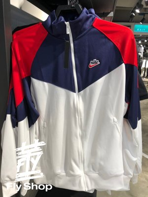 [飛董] Nike NSW 復古 休閒 運動 立領外套 男裝 BV2626-121 白藍紅
