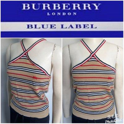 二手真品 BURBERRY BLUE LABEL 衣服 上衣 無袖 衣