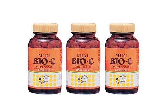 最便宜C錠 日本三基 MIKI寶而喜(顆粒) 富含玫瑰果 補充維生素C+鈣質C (一套3瓶) 松柏西錠 最新效期2021.11.5