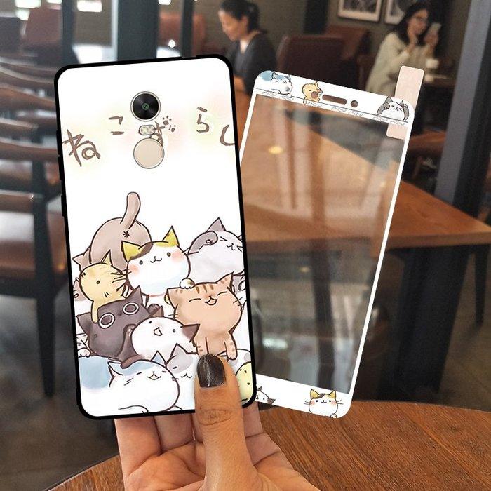 手機殼蘋果安卓卡通透明圖案小米紅米note4x手機殼女款個性創意note4全包硅膠可愛卡通潮韓國