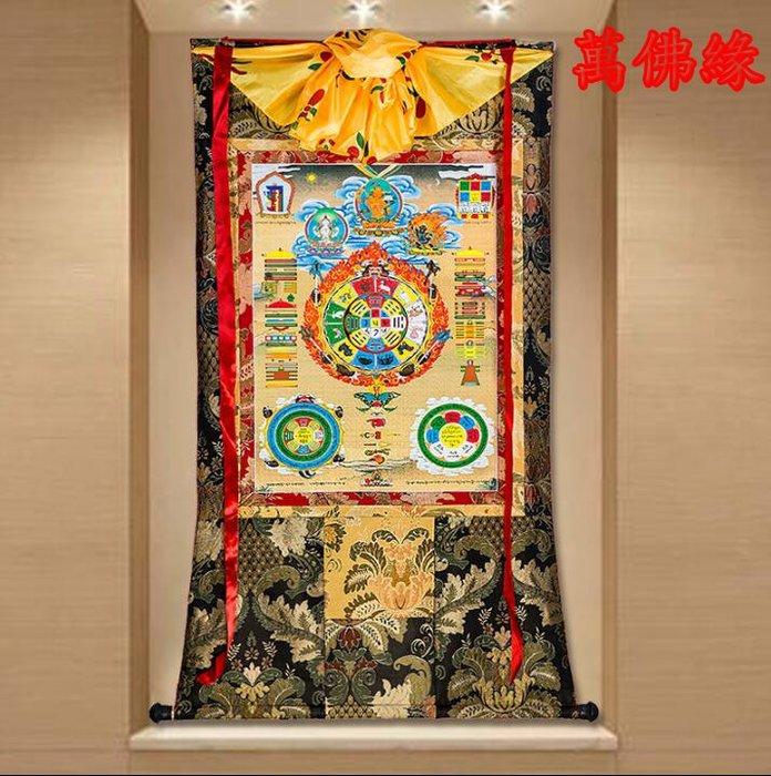 【萬佛緣】九宮八卦牌唐卡刺繡布料裝裱西藏唐卡裝飾掛畫八卦牌唐卡佛像154公分