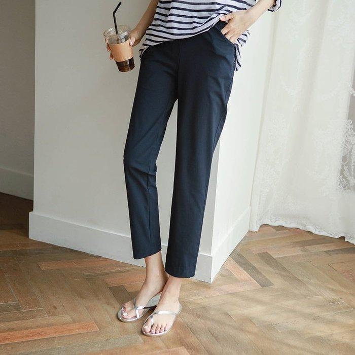 Bellee 正韓 韓國好評 涼感全彈性腰鬆緊西裝褲 S-XL (3色)【M50606】