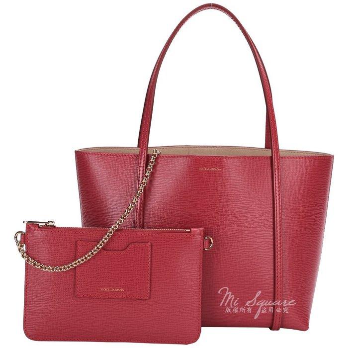米蘭廣場 DOLCE & GABBANA ESCAPE 壓紋牛皮購物包(紅色) 1510672-54