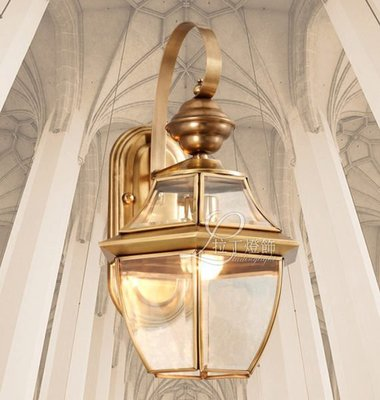 {美學}陽台燈露台燈庭院燈全銅燈戶外燈防水燈A07MX-2004