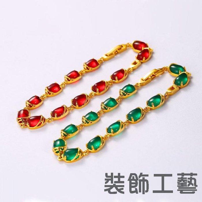 鑲鋯石手鏈時尚鍍24k金色手鏈女AB8120601