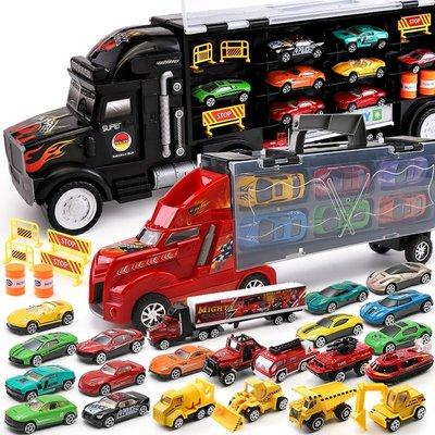 積木城堡 迷你廚房 早教益智兒童玩具大卡車貨柜車小汽車模型套裝二三四2-3-4-6周歲玩具 男孩