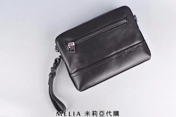 Melia 米莉亞代購 bally 貝利 2108新款 春季新品 男士款 真皮 牛皮 手拿包 公事包 黑色